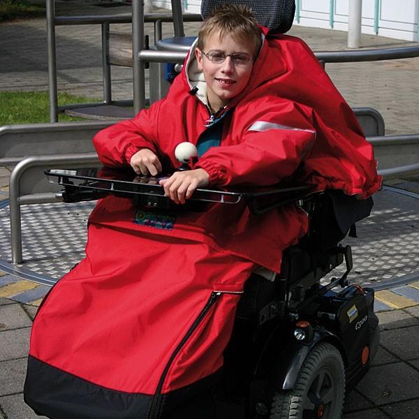 Rollstuhl Fußsack und Cape Kombi