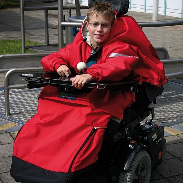 Rollstuhl-Fusssack-Cape-Kombi-Kind