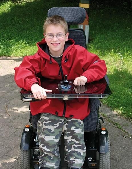 Rollstuhjacke Kind rot