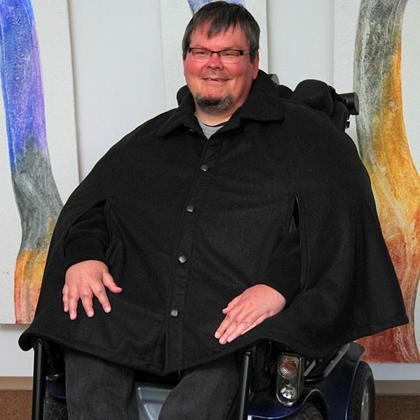 Rollstuhljacke bzw Cape