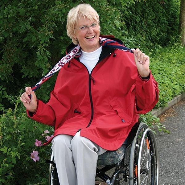 Rollstuhljacke rot